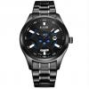 光波防水节能环保光电手表光能手表 男士钢带手表